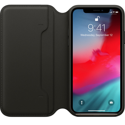 APPLE iPhone XS Leather Folio - Black  Default image
