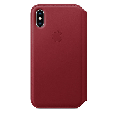 APPLE iPhone XS Max Leather Folio - (PRODUCT)RED  Default image