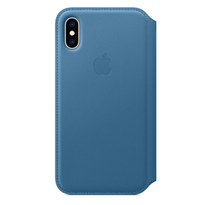 APPLE iPhone XS Max Leather Folio - Cape Cod Blue  Default image