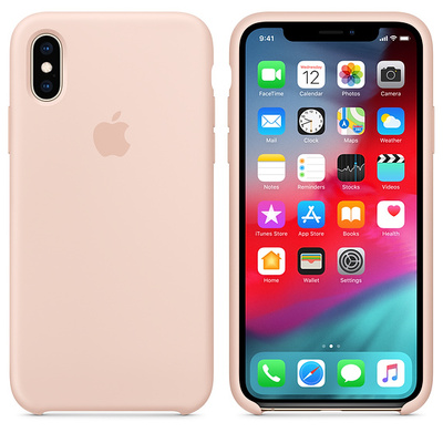 APPLE iPhone XS Silicone Case - Pink Sand  Default image