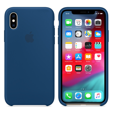APPLE iPhone XS Max Silicone Case - Blue Horizon  Default image