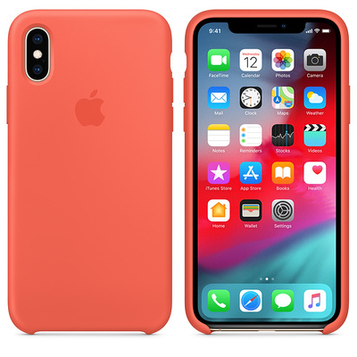 APPLE iPhone XS Max Silicone Case - Nectarine  Default image