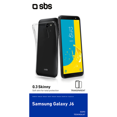 SBS ACCESSORI TELEFONICI Cover Skinny Samsung Galaxy J6  Default image