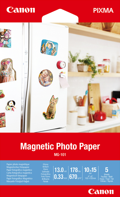 CANON MAGNETIC PHOTO PAPER MG-101 4X6 5 SHEETS  Default image