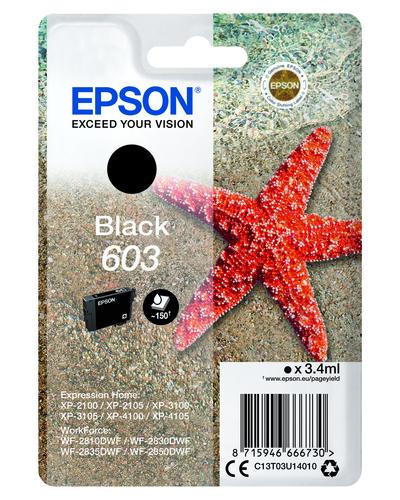 EPSON 603 STELLA MARINA T03U STANDARD SINGLE NERO  Default image
