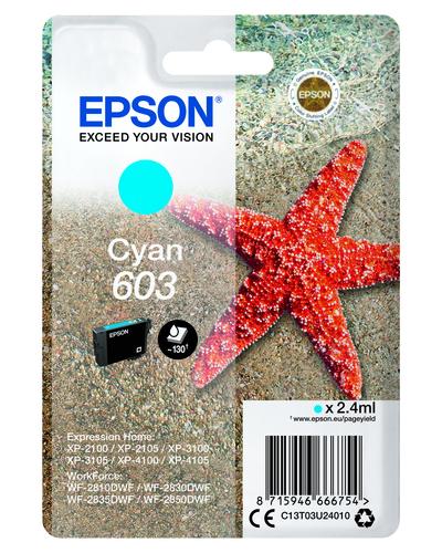 EPSON 603 STELLA MARINA T03U STANDARD SINGLE  CIANO  Default image