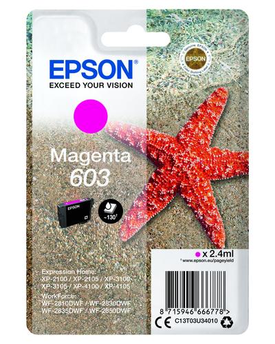EPSON 603 STELLA MARINA T03U STANDARD SINGLE  MAGENTA  Default image