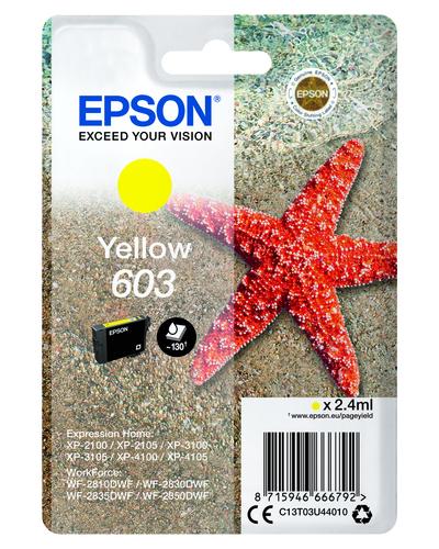 EPSON 603 STELLA MARINA T03U STANDARD SINGLE GIALLO  Default image