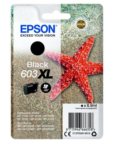 EPSON 603 STELLA MARINA T03A XL SINGLE NERO  Default image