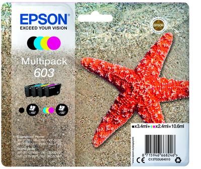 EPSON 603 STELLA MARINA T03U STANDARD MULTIPACK 4 COLORI  Default image