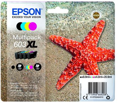 EPSON 603 STELLA MARINA T03U XL MULTIPACK 4 COLORI  Default image