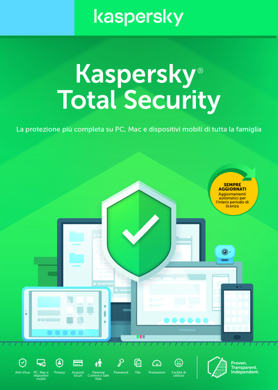 KASPERSKY TOTAL SECURITY 3 UTENTI 1 ANNO  Default image