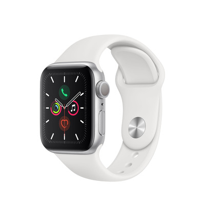 APPLE Watch Series 5, 44mm White Sport Band - S/M & M/L  Default image