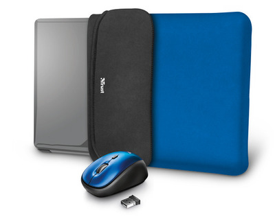 TRUST YVO MOUSE & SLEEVE F/15.6 – BLUE  Default image