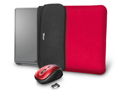 TRUST YVO MOUSE & SLEEVE F/15.6 – RED  Default image