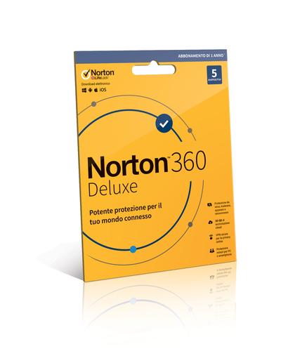 SYMANTEC NORTON 360 DELUXE - 5 DISPOSITIVI  Default image