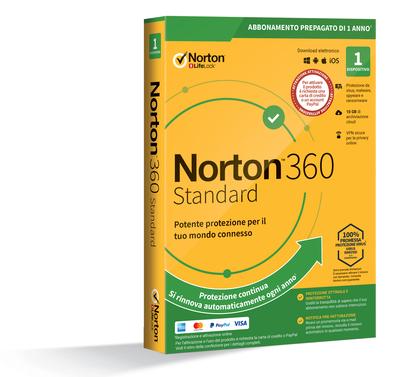SYMANTEC NORTON 360 STANDARD - 1 DISPOSITIVO - ABB. PREPAGA  Default image