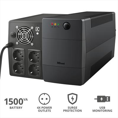 TRUST PAXXON 1500VA UPS 4 OUTLETS  Default image