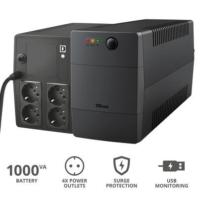 TRUST PAXXON 1000VA UPS 4 OUTLETS  Default image