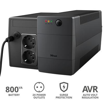 TRUST PAXXON 800VA UPS 2 OUTLETS  Default image