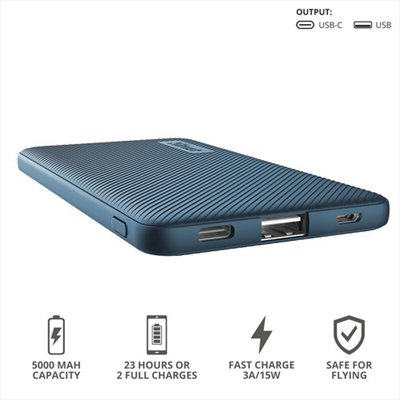 TRUST PRIMO POWERBANK 5.000 BLUE  Default image