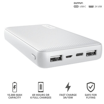 TRUST PRIMO POWERBANK 15.000 WHITE  Default image