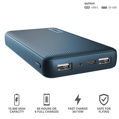 TRUST PRIMO POWERBANK 15.000 BLUE  Default image