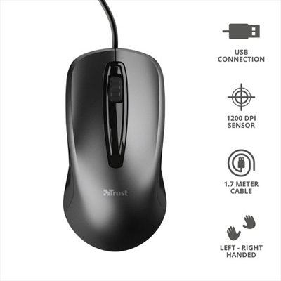 TRUST CARVE WIRED MOUSE  Default image