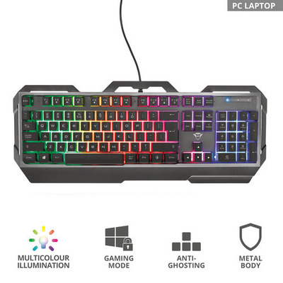 TRUST GXT856 TORAC GAMING KEYBOARD IT  Default image