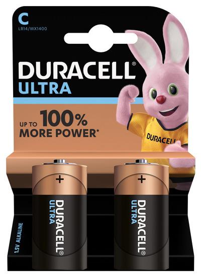 DURACELL ULTRA C BATTERIE ALCALINE X2 1.5V LR14 MX1400  Default image