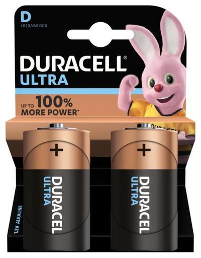 DURACELL ULTRA D BATTERIE ALCALINE X2 1.5V LR20 MN1300  Default image