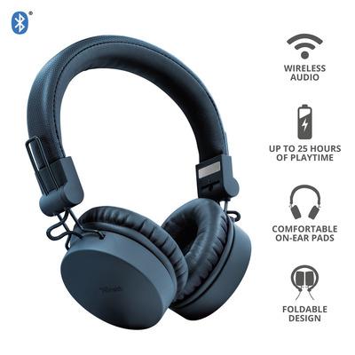 TRUST TONES WIRELESS HEADPHONES BLUE  Default image