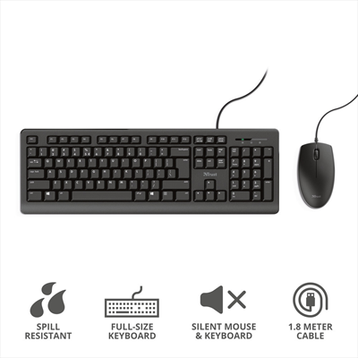 TRUST PRIMO KEYBOARD AND MOUSE SET IT  Default image