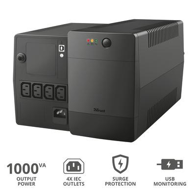 TRUST PAXXON 1000VA UPS 4 IEC OUTLETS  Default image