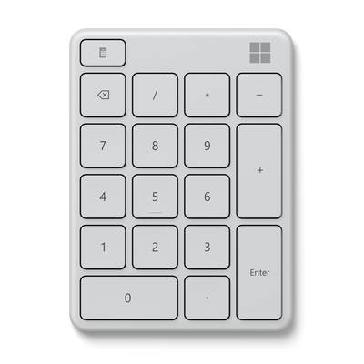 MICROSOFT STAND ALONE NUMBER PAD WHITE  Default image