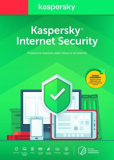 KASPERSKY INTERNET SECURITY 3 UTENTI 1 ANNO  Default image