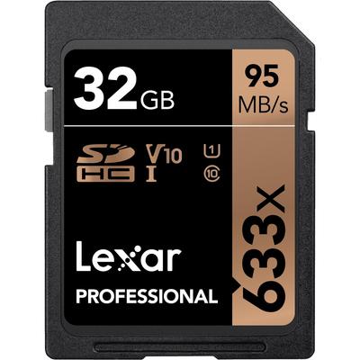 LEXAR 32GB 633X SDHC C10 V10 U1 GLOBAL  Default image