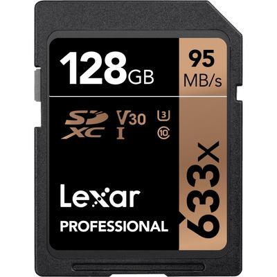 LEXAR 128GB 633X SDHC C10 V30 U3 GLOBAL  Default image