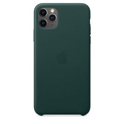 APPLE iPhone 11 Pro Max Leather Case - Forest Green  Default image