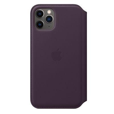 APPLE iPhone 11 Pro Leather Folio - Aubergine  Default image