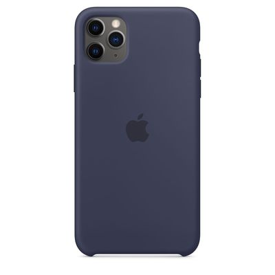 APPLE iPhone 11 Pro Max Silicone Case - Midnight Blue  Default image