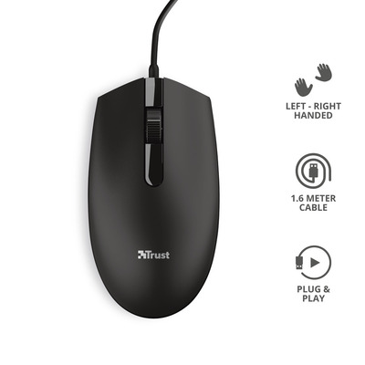 TRUST BASI WIRED MOUSE  Default image