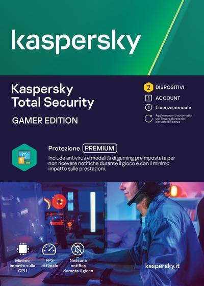 KASPERSKY KASPERSKY TOTAL SECURITY GAMER EDITION 2 DEV 1Y  Default image