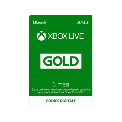 MICROSOFT Microsoft Xbox Live Gold 6 mesi  Default image